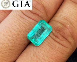 *NR* 6.71 GIA Certified Emerald - Colombian - Glowing Color