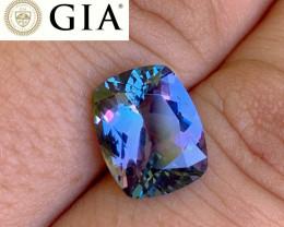 *NR* 5.28 ct GIA Certified Tanzanite - Multicolor Shifting