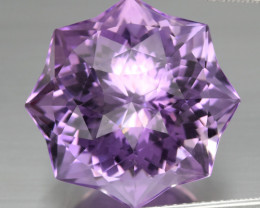 22.39 ct.  Star Rose-Cut Natural Top Nice Purple Amethyst Unheated Uruguay