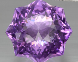 23.99 ct. Star Rose-Cut Natural Top Nice Purple Amethyst Unheated Uruguay