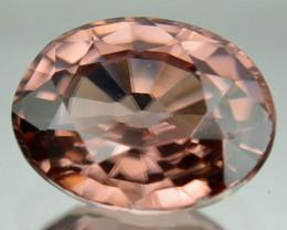 ~GLITTERING~ 1.84 Cts Natural Brownish Pink Zircon Oval Cut Tanzania