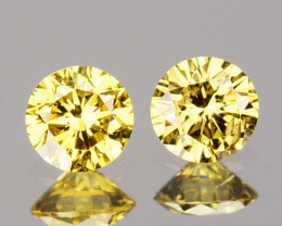 ~UNTREATED~ 0.13 Cts Natural Fancy Diamond 2 Pcs Round Cut Africa