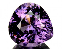1.02 Cts Natural Purple Blue Spinel Heart Pear Cut Burmese