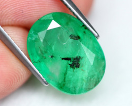 Emerald 5.45Ct Vivid Green Zambian Emerald B0303