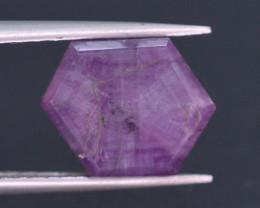 Rarest 4.35 ct Trapiche Pink Kashmir Sapphire ~ AD
