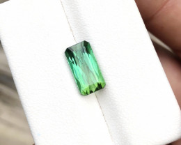 2.40 Ct Natural Greenish Transparent Tourmaline Ring Size Gemstone