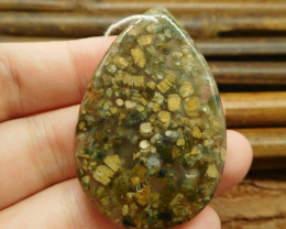 Natural jasper pendant bead (G0996)