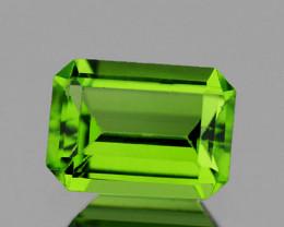 9x7 mm Octagon 2.32cts Green Peridot [VVS]