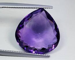 "12.70ct"" Top Grade Gem"" Fantastic Pear Cut Natural Purple Amethyst"