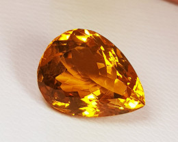 """6.95 ct """" AAA Grade Gem """" Awesome Pear Cut Top Luster Citrine"""