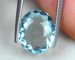 3.18Ct Blue Aquamarine Oval Cut Lot LZ3122