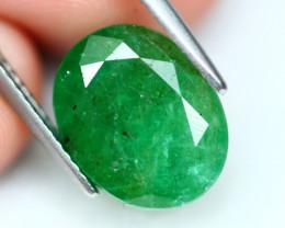 Emerald 4.92Ct Natural Green Zambian Emerald A0407
