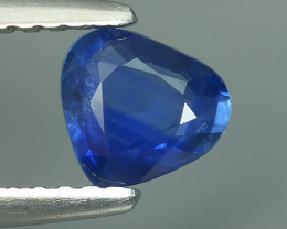 AWESOME BLUE SAPPHIRE FACET GENUINE HEART HEATED MADAGASC