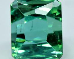 10.94 Carat Certified Natural Transparent Bluish Green Rectangular Cut Tour