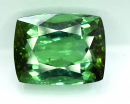 8.89 Carat Certified Transparent Green Color Natural Tourmaline Rectangular