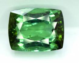 8.89 Carat Certified Transparent Green Color Natural Tourmaline Rectangular