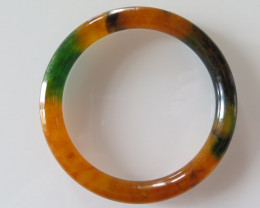 NEW ARRIVAL CERTIFIED GRADE A JADE/JADEITE BANGLE  59mm