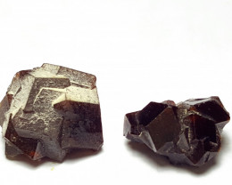 Amazing Damage free two Garnet crystals 72Cts-Pakistan