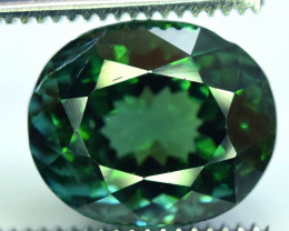 9.75 Carat Green Color Natural Certified Tourmaline Gemstone