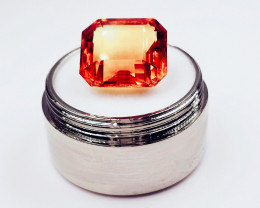 Natural 11 Ct. Brazilian Faceted Fire Orange Citrine Gemstone