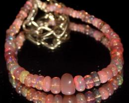 18 Crts Natural Welo Smoked Opal Beads Bracelet 749
