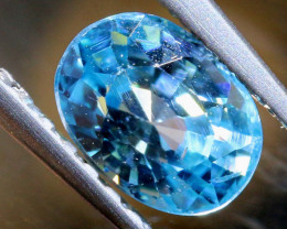 1 CTS NATURAL BLUE ZIRCON FACETED PG-2936