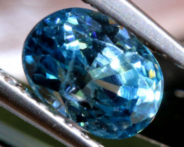 1.13 CTS NATURAL BLUE ZIRCON FACETED PG-2946