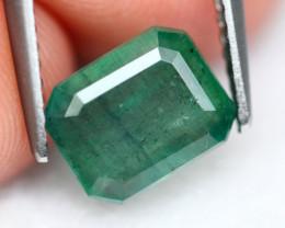 Emerald 1.52Ct Natural Green Zambian Emerald  A0510