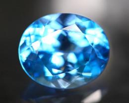 Topaz 6.24Ct Natural Swiss Blue Topaz Color C0501