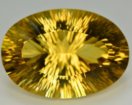 Laser Cut 98.20 Ct Gorgeous Color Natural Citrine