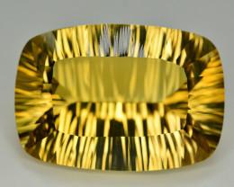 Laser Cut 53.55 Ct Gorgeous Color Natural Citrine