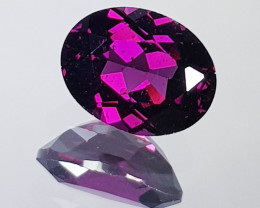 2.58 ct AAA Grade  Oval Cut Natural Purple Pink Rhodolite Garnet