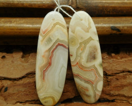 Crazy lace agate earring pairs (G1009)