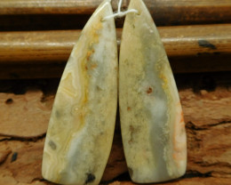 Long gemstone earring bead (G1010)