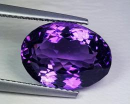 "7.60ct  ""Top Quality Gem"" Stunning Oval Cut Natural Purple Amethyst"