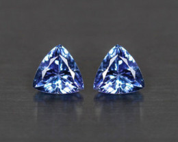 1.41 tcw Top Of The Line!  IF Natural Tanzanite Certified