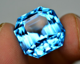 Stunning 30.35 Ct Natural Blue Topaz Gemstone