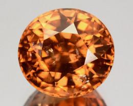 5.13 Cts Natural Sparkling Orange Zircon Oval Cut Srilanka