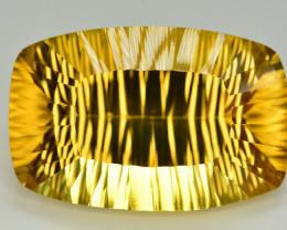 Laser Cut 84 Ct Gorgeous Color Natural Citrine