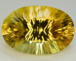 Laser Cut 64.35 Ct Gorgeous Color Natural Citrine