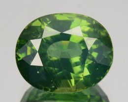 4.70 Cts Natural Sparkling Green Zircon Oval Cut Srilanka