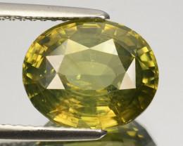 5.72 Cts Natural Sparkling Green Zircon Oval Cut Srilanka