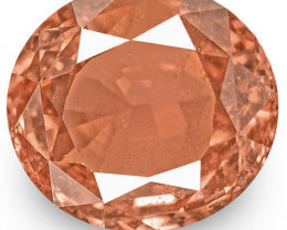 IGI Certified Sri Lanka Padparadscha Sapphire, 1.08 Carats, Rich Orange