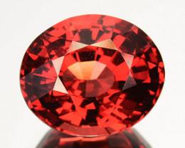 5.03 Cts Natural Orange Red Rhodolite Garnet Oval Cut Africa Gem