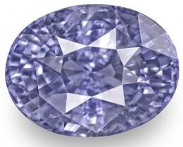 GIA Certified Sri Lanka Blue Sapphire, 6.75 Carats, Vivid Violetish Blue