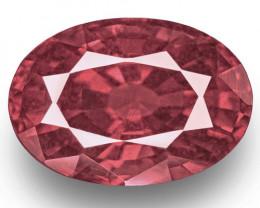 IGI Certified Madagascar Pink Sapphire, 5.47 Carats, Rich Brownish Pink