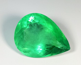 "33.61 ct "" Top Grade Gem "" Stunning Pear Cut Natural Green Fluorite"