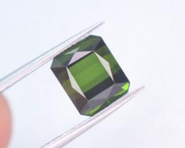 Top Color 3.0 ct Natural Fancy Cut Green Color Tourmaline ~ A G