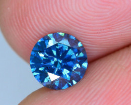 AIG Cert~0.92 ct Blue Diamond Top Luster