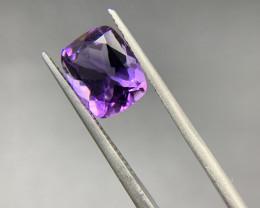 2.85 Ct Amethyst Loose Gemstone - Natural Gemstone - Cushion Shape - Violet
